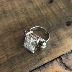 Chunky faux diamond ring size 6